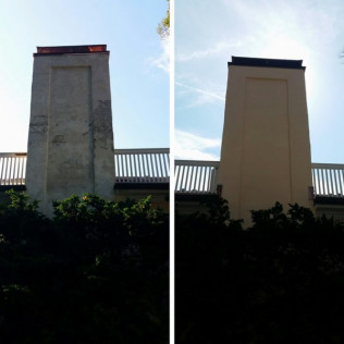 Stucco repair and Re-paint.