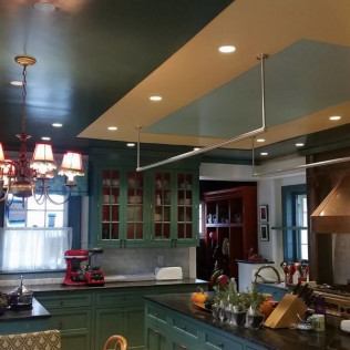 high detail kitchen ceiling paint