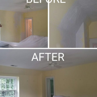 Plaster Repair and re-paint.