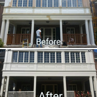 Full preparation and paint of rear porch/sunroom